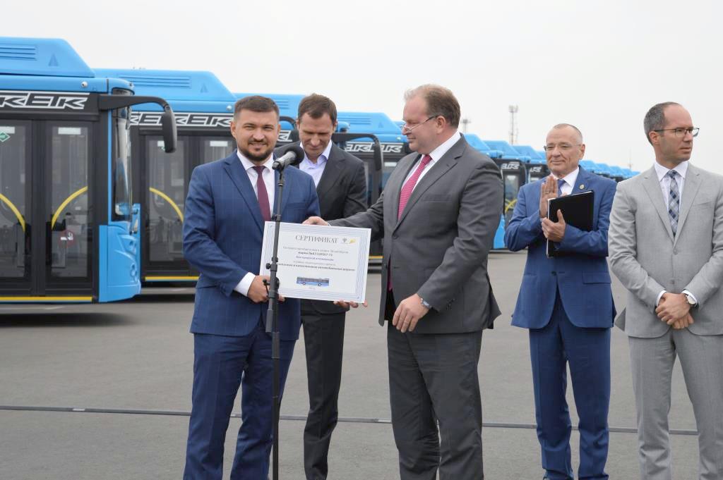 Директор «Единой транспортной компании» Александр Васильченко и  заместитель Министра транспорта РФ Алексей Семенов